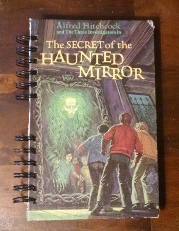 The Secret of the Haunted Mirror, Recycled Book Journal, Cover