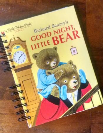 Good Night Little Bear, Recycled Little Golden Book Journal