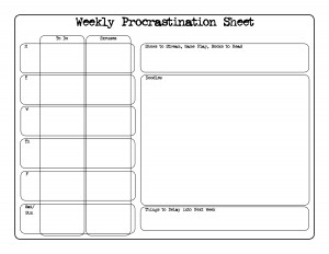 Weekly Procrastination Planner