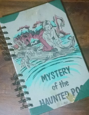 Mystery of the Haunted Pool Recycled Book Journal