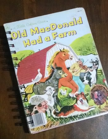 Old MacDonald Had a Farm Recycled Book Journal