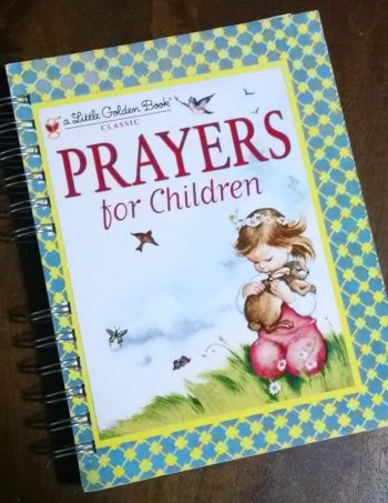 Prayers for Children Recycled Book Journal