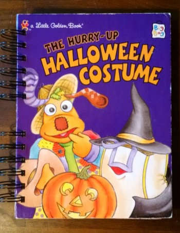 The Hurry Up Halloween Costume, Upcycled Little Golden Book Journal