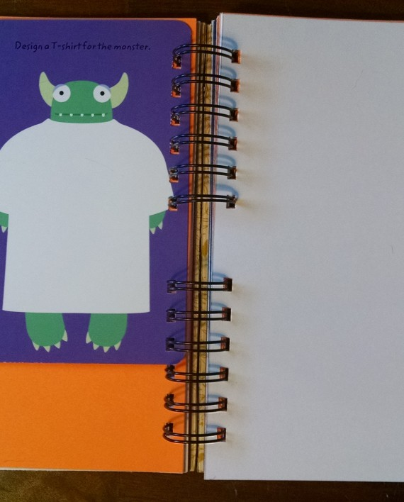 The Hurry Up Halloween Costume, Upcycled Little Golden Book Journal, Interior 2