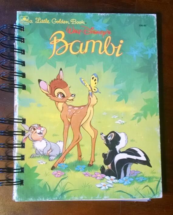 Bambi, Recycled Little Golden Book Journal