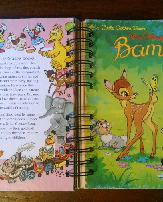 Bambi, Recycled Little Golden Book Journal, Cover