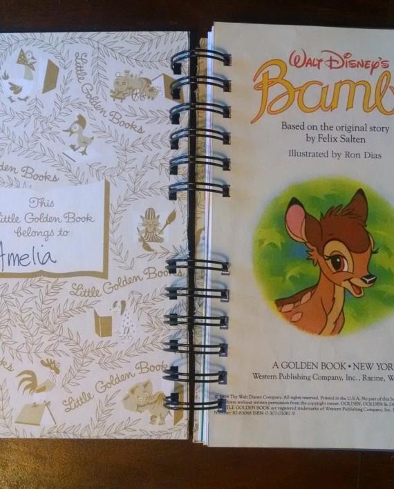 Bambi, Recycled Little Golden Book Journal, Interior 2