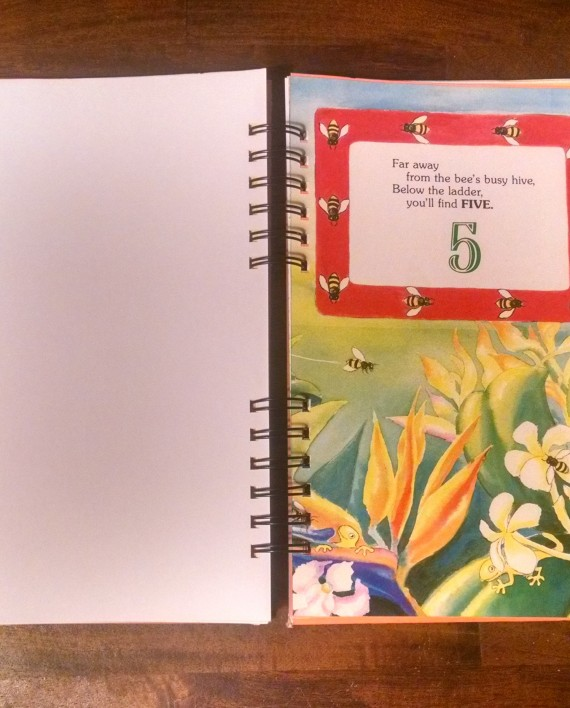 Gecko Hide and Seek Recycled Book Journal Interior 2