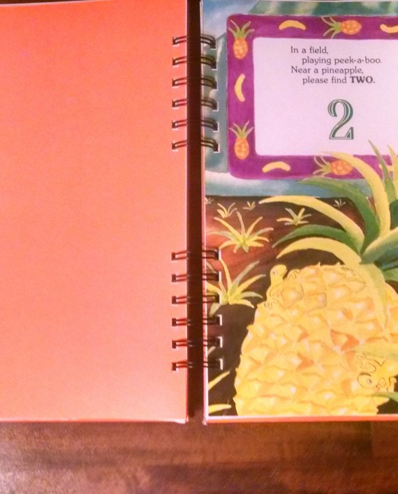 Gecko Hide and Seek Recycled Book Journal Interior