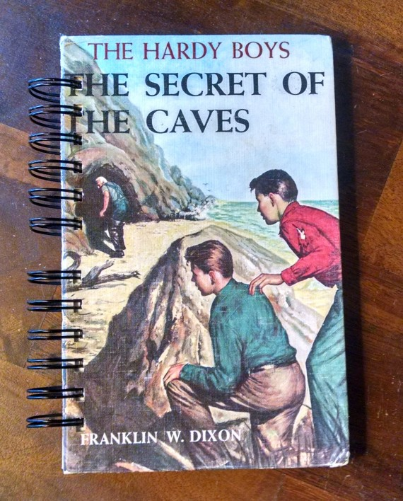 The Secret of the Caves, The Hardy Boys, Vintage Book Journal