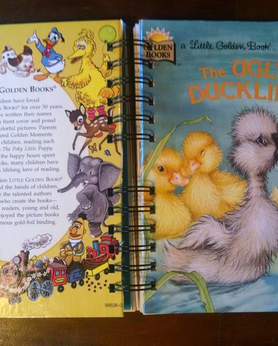 The Ugly Duckling, Recycled Little Golden Book Journal, Cover