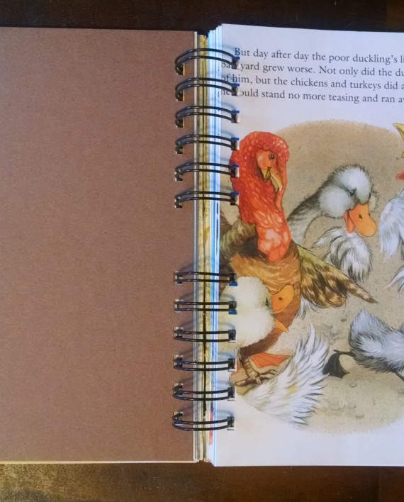The Ugly Duckling, Recycled Little Golden Book Journal, Interior 2