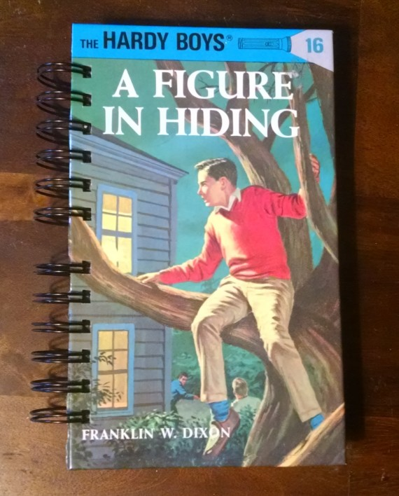 A Figure in Hiding, The Hardy Boys, Recycled Book Journal