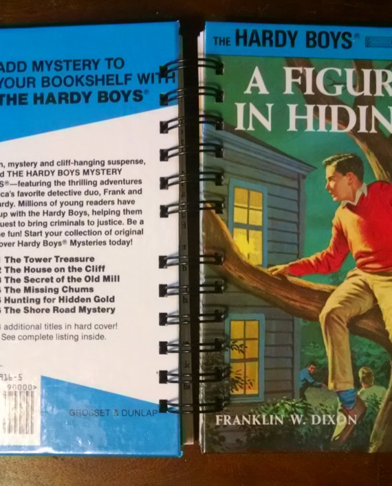A Figure in Hiding, The Hardy Boys, Recycled Book Journal, Cover