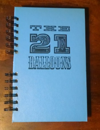 The 21 Balloons, Recycled Book Journal