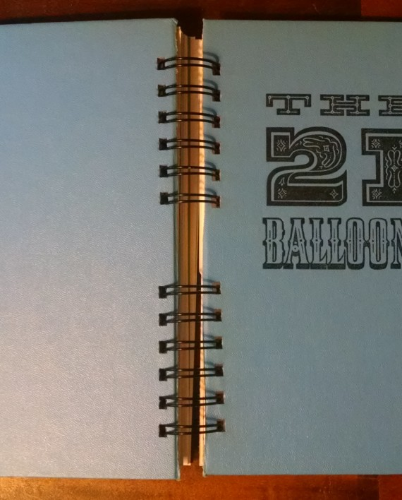 The 21 Balloons, Recycled Book Journal, Cover