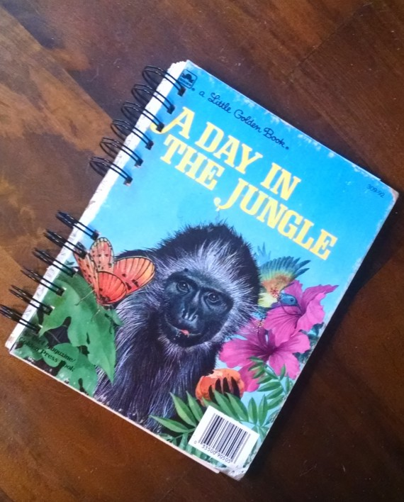 A Day in the Jungle, Recycled Little Golden Book Journal