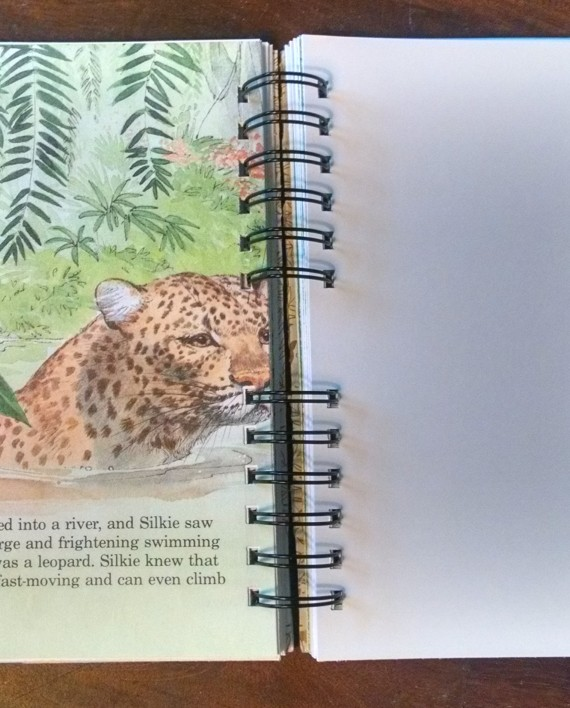 A Day in the Jungle, Recycled Little Golden Book Journal, Interior 2