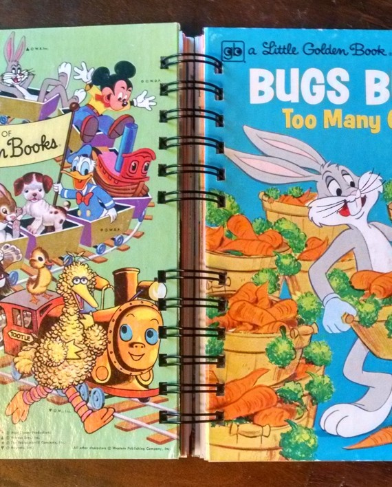 Bugs Bunny Too Many Carrots, Little Golden Book Journal, Cover