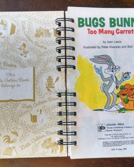 Bugs Bunny Too Many Carrots, Little Golden Book Journal, Interior