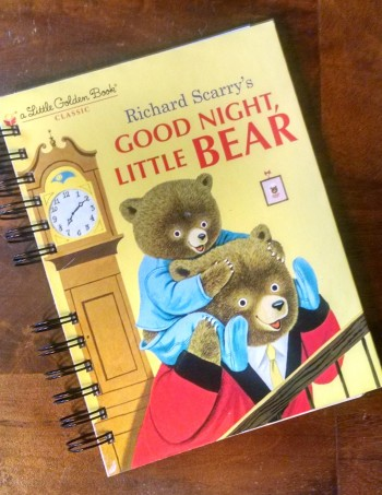 Good Night Little Bear, Recycled Little Golden Book Journal