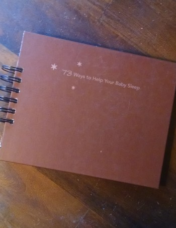 73 Ways to Help Your Baby Sleep Book Journal