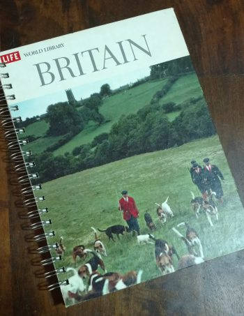 Britain Recycled Book Journal