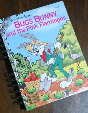 Bugs Bunny and the Pink Flamingos Recycled Book Journal