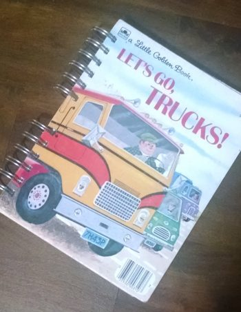 Let's Go Trucks Recycled Book Journal