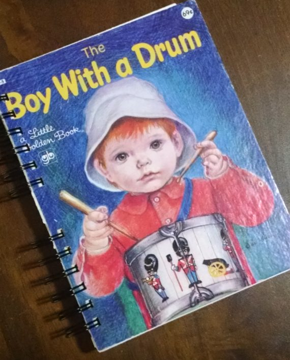 The Boy with a Drum Upcycled Book Journal