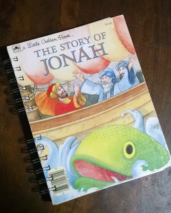 The Story of Jonah Recycled Book Journal