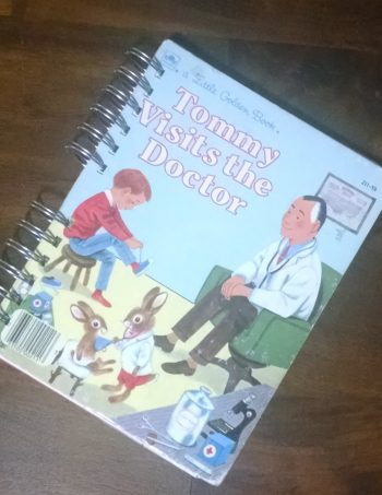 Tommy Visits the Doctor Recycled Book Journal