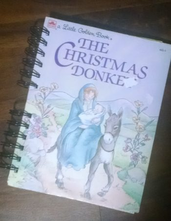 The Christmas Donkey Recycled Book Journal