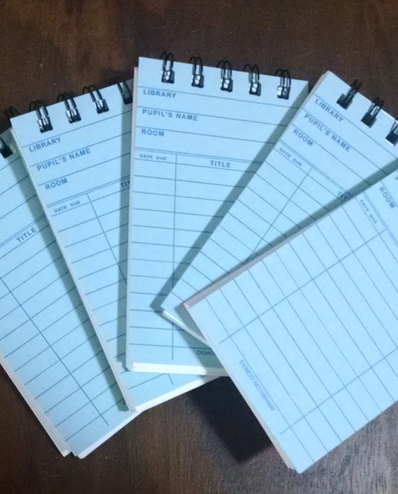 Blue Library Card Notebooks