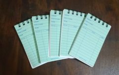 Green Library Card Notebooks