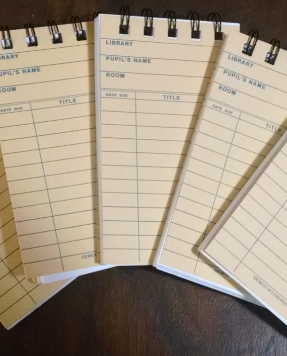 Yellow Library Card Notebooks