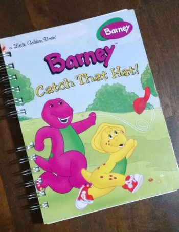 Barney Catch that Hat Book Journal