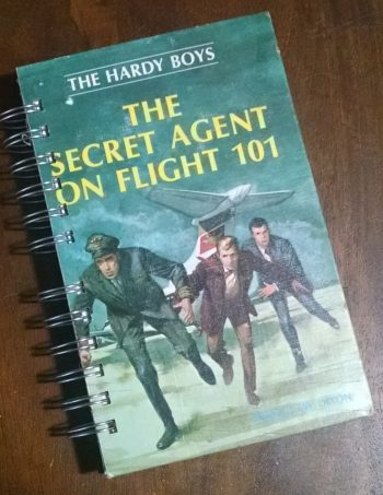 The Secret Agent on Flight 101 Recycled Book Journal