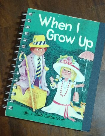 When I Grow Up Recycled Book Journal