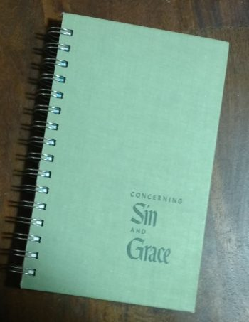 Concerning Sin and Grace Book Journal