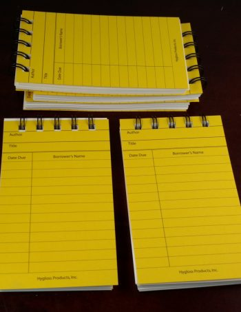 Five Bright Yellow Library Card Notebooks
