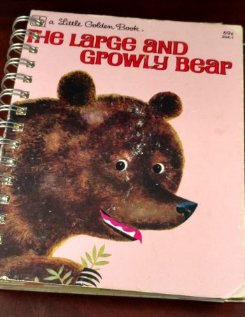 The Large and Growly Bear Recycled Book Journal 1025