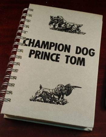 Champion Dog Prince Tom Book Journal