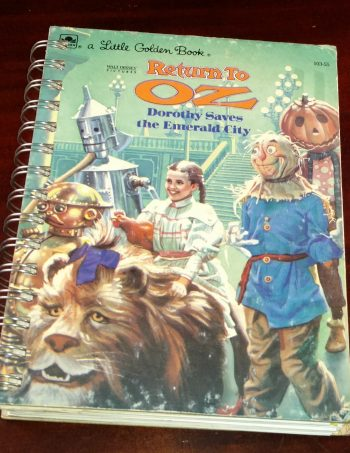 Return to Oz Recycled Book Journal