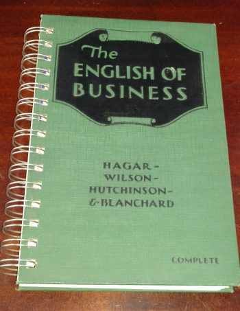 The English of Business Recycled Book Journal
