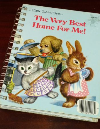 The Very Best Home For Me Recycled Book Journal